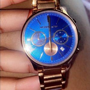 Dark blue mk watch